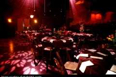 Theatre - dinner tables patterned lights
